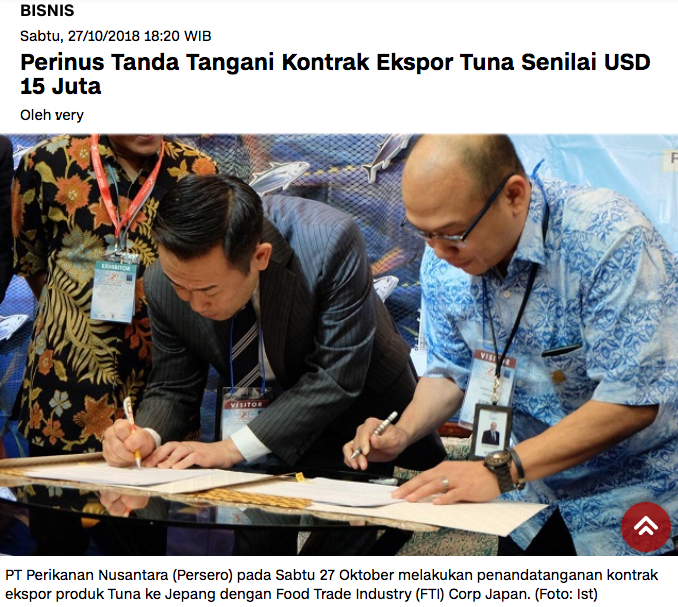 http://indonews.id/mobile/artikel/16835/Perinus-Tanda-Tangani-Kontrak-Ekspor-Tuna-Senilai-USD-15-Juta/